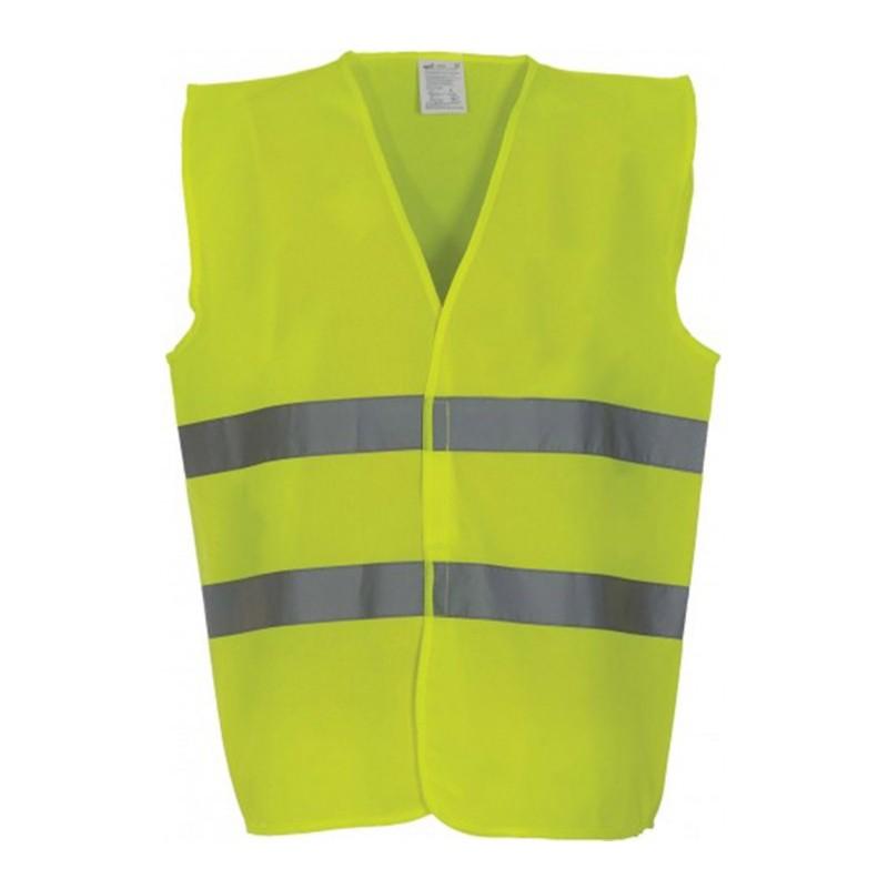 Gilet de sécurité HVW 102 marque Yoko - couleur jaune fluo