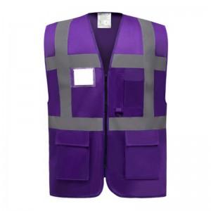 Gilet de sécurité fermeture HVW 801 marque Yoko - couleur violet