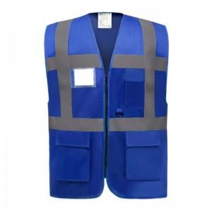 Gilet de sécurité fermeture HVW 801 marque Yoko - couleur bleu royal