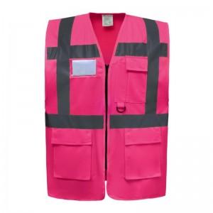 Gilet de sécurité fermeture HVW 801 marque Yoko - couleur rose
