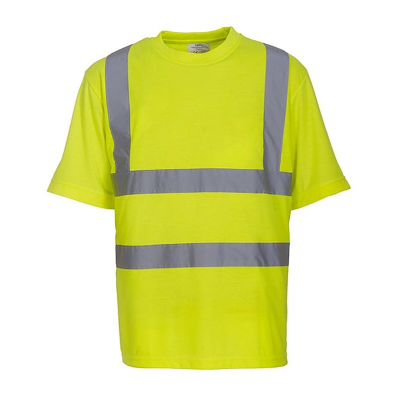 Tee shirt fluo HVJ410 marque Yoko - couleur jaune fluo
