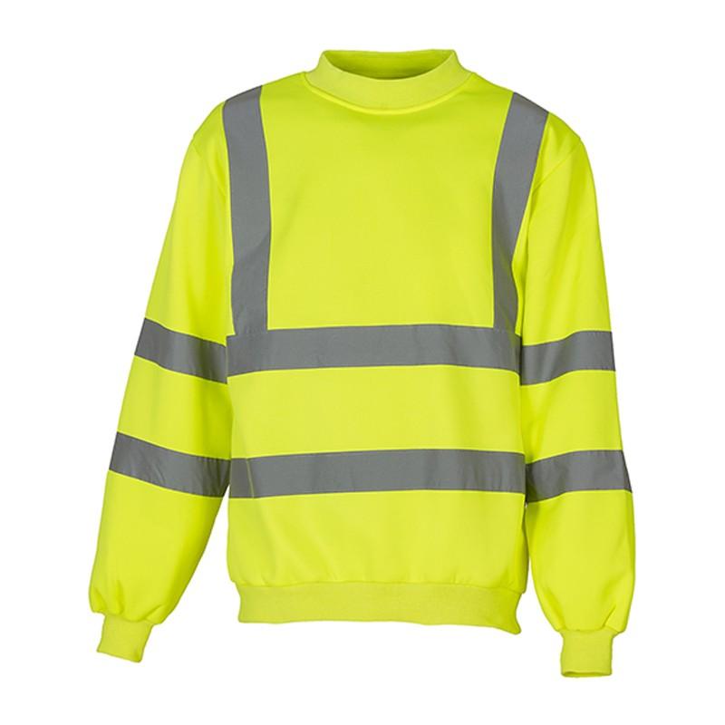 Sweatshirt fluo HVJ510 marque Yoko - couleur jaune fluo