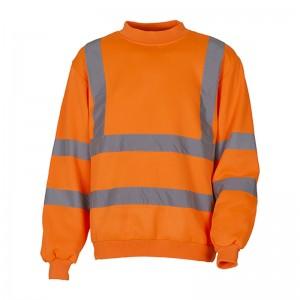 Sweatshirt fluo HVJ510 marque Yoko - couleur orange fluo