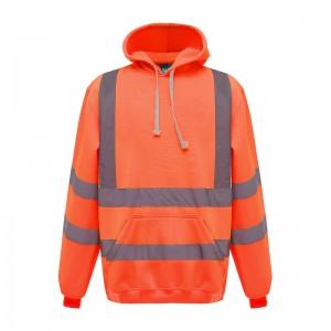 Sweatshirt à capuche fluo HVK05 marque Yoko - couleur orange fluo