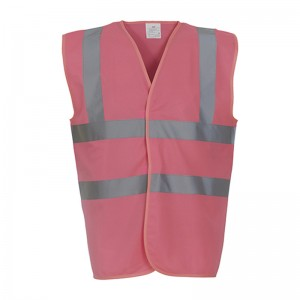 Gilet de sécurité HVW 100 marque Yoko - couleur rose