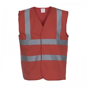 Gilet de sécurité HVW 100 marque Yoko - couleur rouge
