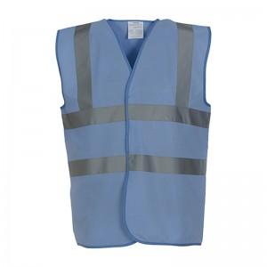 Gilet de sécurité HVW 100 marque Yoko - couleur bleu ciel