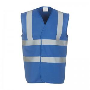 Gilet de sécurité HVW 100 marque Yoko - couleur bleu royal