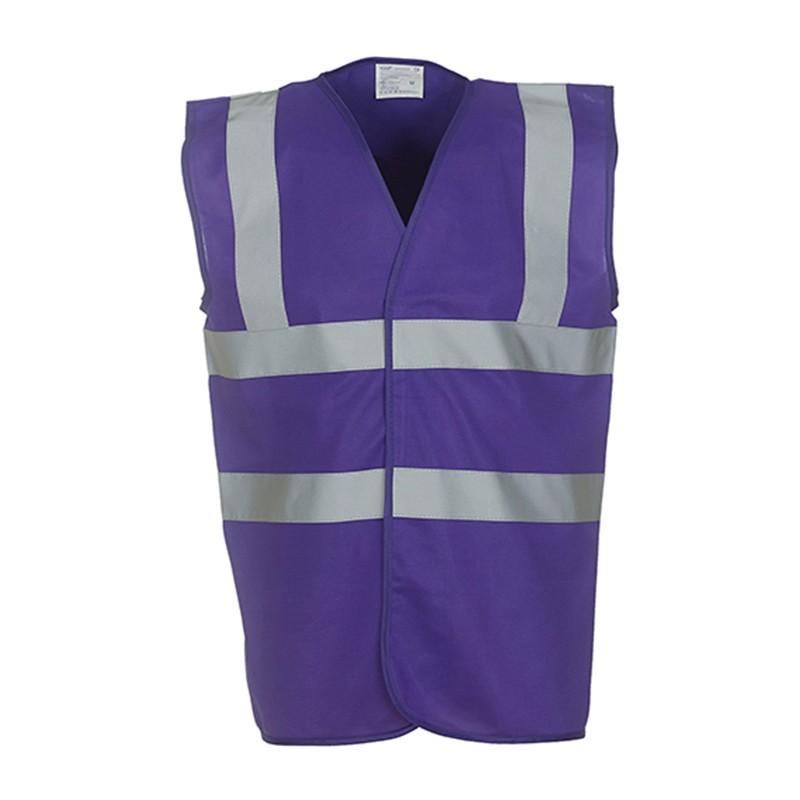 Gilet de sécurité HVW 100 marque Yoko - couleur violet