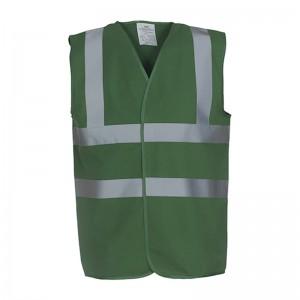 Gilet de sécurité HVW 100 marque Yoko - couleur vert forêt
