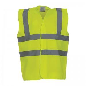 Gilet de sécurité HVW 100 marque Yoko - couleur jaune fluo