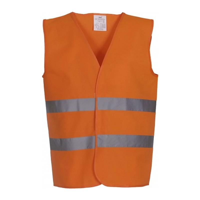 Gilet de sécurité HVW 102 marque Yoko - couleur orange fluo