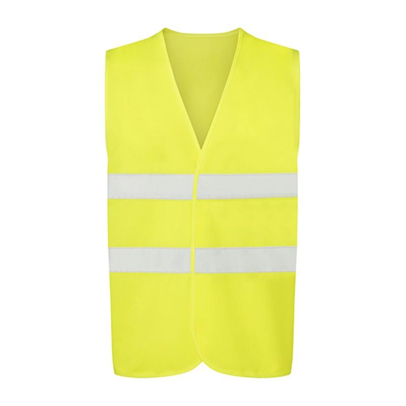 Gilet de sécurité jaune fluo petit prix UCC052 personnalisable - face