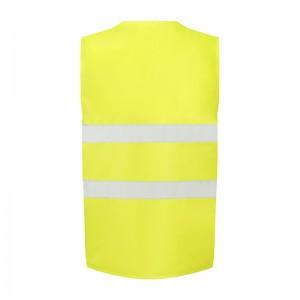 Gilet de sécurité jaune fluo petit prix UCC052 personnalisable - dos