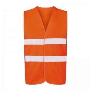 Gilet de sécurité orange fluo petit prix UCC052 personnalisable - face