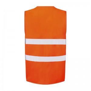 Gilet de sécurité orange fluo petit prix UCC052 personnalisable - dos