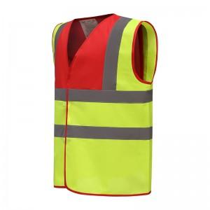 Gilet fluo jaune rouge personnalisé