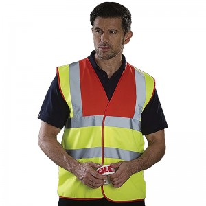 Gilet de sécurité HVW 100 bicolore marque Yoko personnalisable