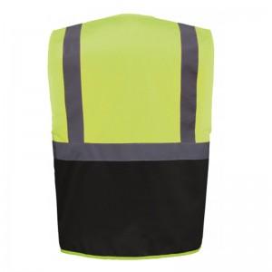 Personnaliser au dos le gilet de sécurité bicolore HVW801 jaune fluo et noir