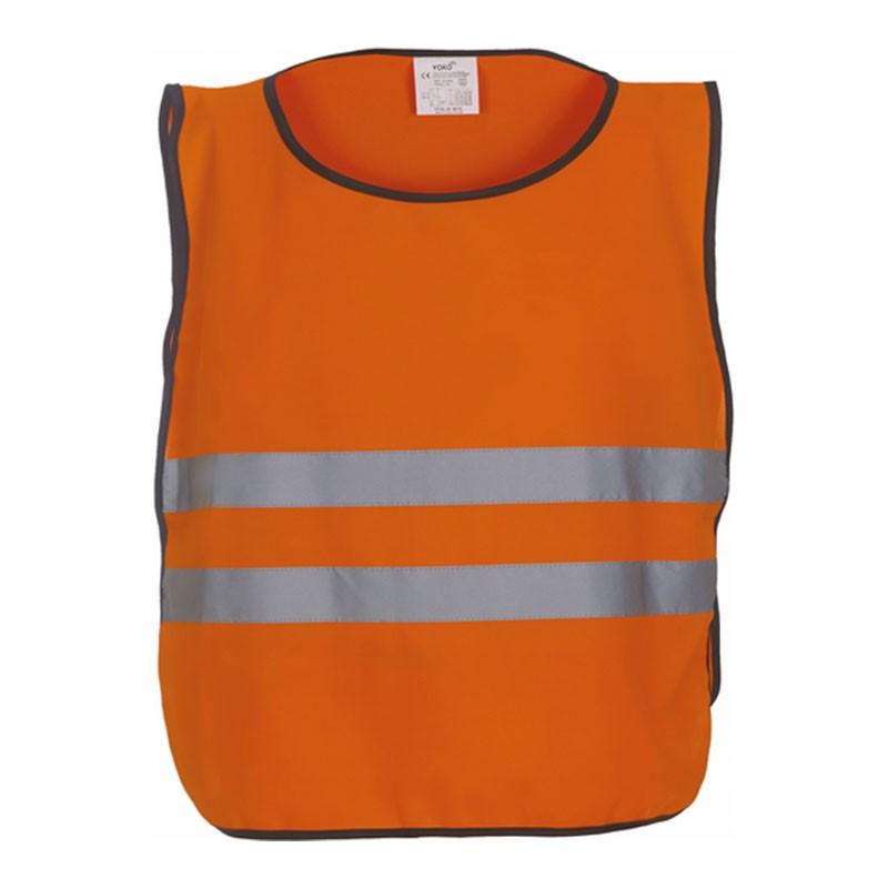 Chasuble de sécurité HVJ269 marque Yoko - couleur orange fluo