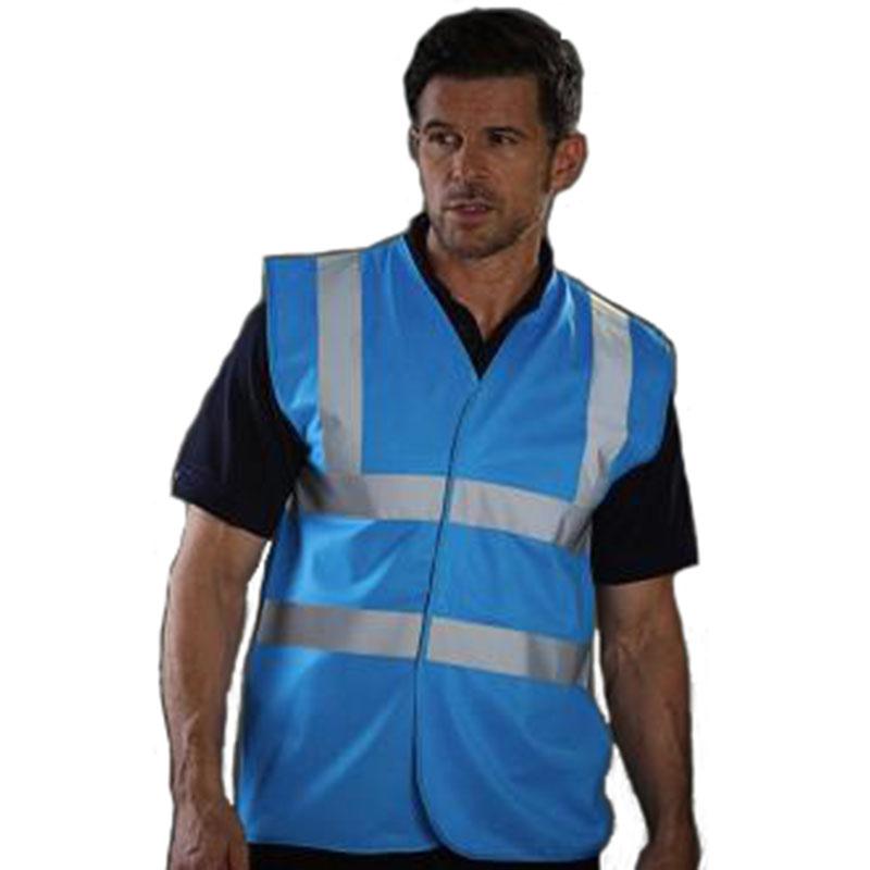 Personnaliser nos gilets de sécurité bleu