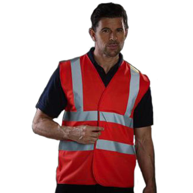 Personnaliser nos gilets de sécurité rouge