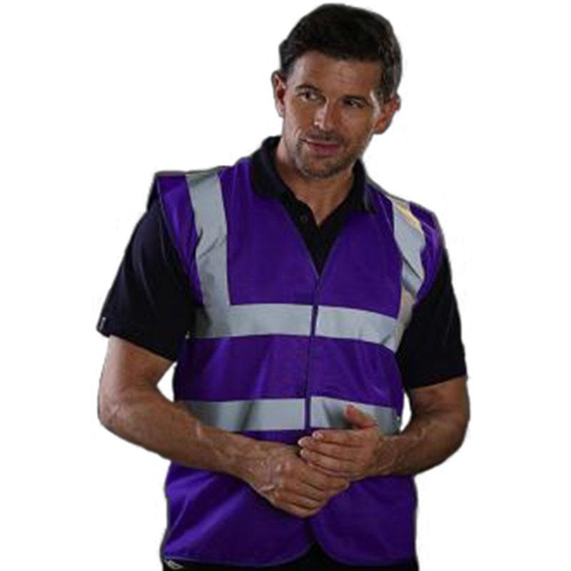 Personnaliser nos gilets de sécurité violet