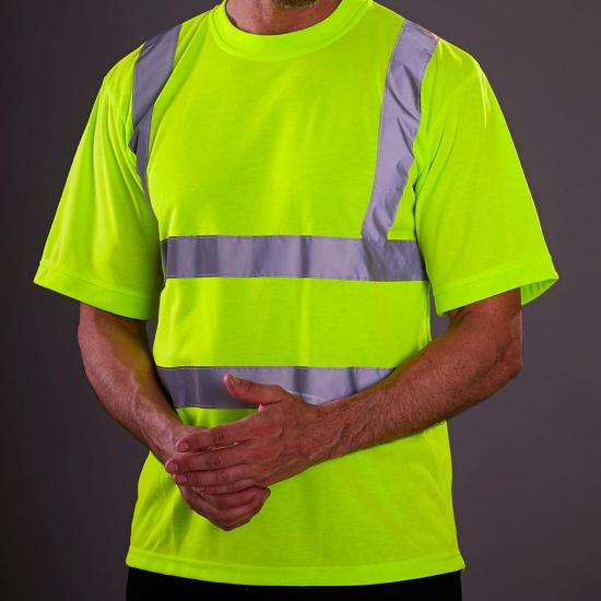 tee shirt jaune fluo de sécurité haute visibilité EPI personnalisé
